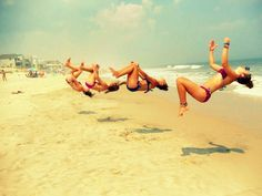 I want to go to the beach with all my gym friends to take pics like this :)
