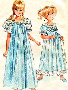 I just bought this Vintage Sewing Pattern for Girls' Robe and by planetalissa on… Vintage Dress Patterns, Vintage Dresses, Vintage Outfits, Vintage Fashion, Little Girl Dresses, Girls Dresses, Nightgown Pattern, Jumpsuit Pattern, Vintage Nightgown