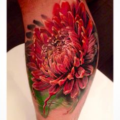 Chrysanthemum done by Dmitry Vision (Bloodlines Gallery, Pittsburgh), guesting at Deep Six Laboratory, Philadelphia