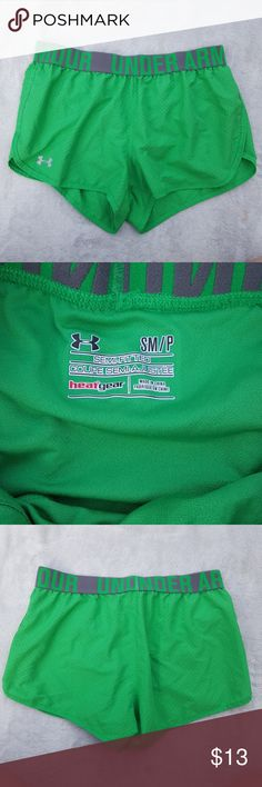 Women's Under Armour shorts Super cute green shorts from Under Armour.  These are semi fitted style and are lined.  Excellent condition. Under Armour Shorts