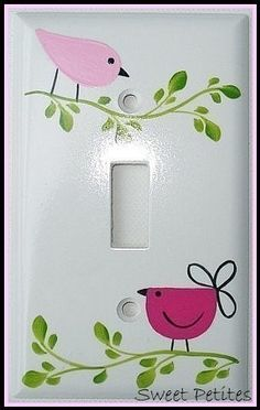 Hand Painted Switch Plate Cover Penelope by SweetPetitesBoutique, $19.95