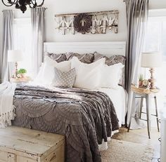 Master Bedroom Furniture Design, Black Bedroom Sets, 1 Bedroom House Plans, 2 Bedroom 2 Bath House Plans with Garage Looks cool, isn't it? Farmhouse Master Bedroom, Master Bedroom Design, Home Decor Bedroom, Bedroom Ideas, Master Bedrooms, Bedroom Furniture, Bedroom Designs, Modern Bedroom, Bedroom Colors