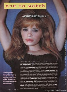 Adrienne Shelly in Sassy magazine R. Adrienne Shelly, Hal Hartley, Sassy Magazine, Best Screenplay, 80s And 90s Fashion, Wine Stains, Spirit Awards, Mel Gibson, She Movie