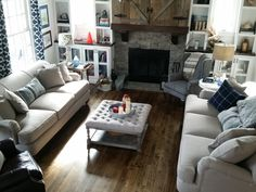 Birch Lane Durham Sofas: they arrived! White Wash Brick, Large Planters, House Made, Birch Lane, Diy Wood Projects, Dining Room Furniture, Great Rooms, Sofas, New Homes