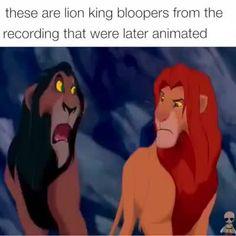 Animated lion king bloopers. Enjoy!