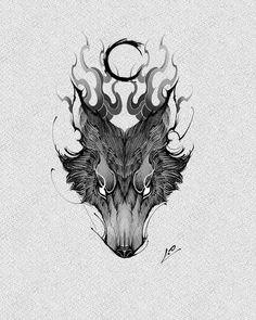 Tattoo Arm Designs, Wolf Tattoo Design, Tattoo Design Drawings, Tattoo Sketches, Dream Tattoos, Wolf Tattoos, Body Art Tattoos, Asian Dragon Tattoo, Dragon Tattoo Arm