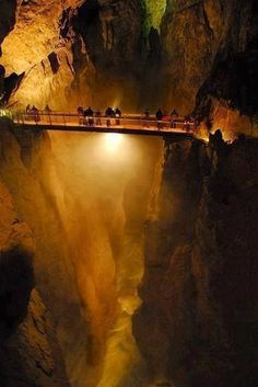 "Amazing caves in Slovenia. Also known as ""The Grand Canyon Underground."""
