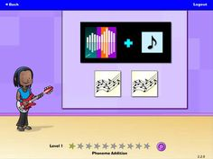 Hearbuilder Phonological Awareness by Super Duper Publications ($0.00 for first set, subscription for remainder) evidence-based, interactive program helps students improve their phonological awareness and listening skills. Students earn instruments and band members to form the rock band The Phonemix while learning to segment, blend, and manipulate sounds.