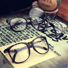 New 2013 Vintage Clear Lens spectacles Frame Glasses Nerd Geek Eyewear With Lens Freeshipping $4.99
