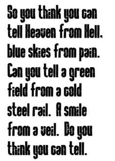 WISH YOU WERE HERE~PINK FLOYD.         Cold steel rail & my veil.