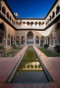 #Espagne  #Seville #Alcazar .  Modifié à multiples reprises durant l'Histoire, l'alcazar de Séville est depuis plus de sept siècles une résidence royale.  http://vp.etr.im/a0d4