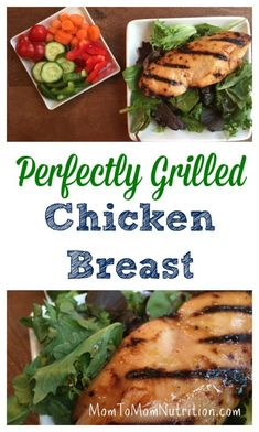 Perfectly grilled chicken breasts make an easy and healthy dinner for busy weeknights or when entertaining a crowd. @MomNutrition