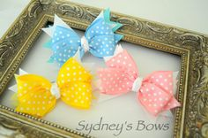 Hair Clip  Medium Boutique hair bow hair clip by SydneysBows, $2.99