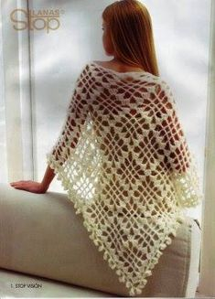 Ivory Bridal Mohair Triangle Shawl by Starknitting on EtsyKira crochet: Scheme no.Crochet Shawl for Women - diagram❤~ Crochet ~❤ So who is going to make this for me until my carpal tunnel goes away and i can do it myself? Crochet Shawl for WomenS Crochet Shawls And Wraps, Crochet Scarves, Crochet Clothes, Crochet Sweaters, Crochet Chart, Easy Crochet, Knit Crochet, Irish Crochet, Thread Crochet