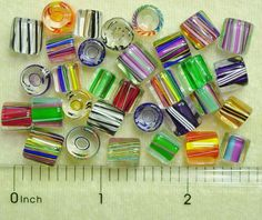 24 David Christensen Assorted Chub Tube Color Mix USA Cane Furnace Glass Beads #DavidChristensen #CaneGlass