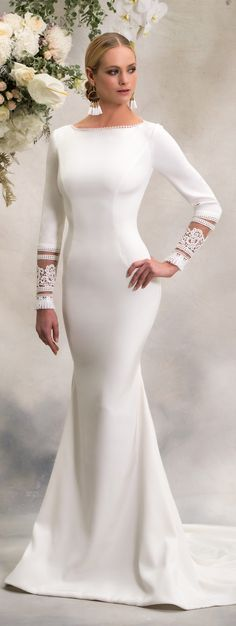 Simple Wedding Dresses Inspired by Meghan Markle | Long sleeve wedding Dress by Anna Georgina 2018 | Royal wedding bridal gown #weddingdress #weddingdresses #bridalgown #bridal #bridalgowns #weddinggown #bridetobe #weddings #bride #weddinginspiration #dreamdress #fashionista #weddingideas #bridalcollection #bridaldress #fashion #dress See more gorgeous bridal gowns by clicking on the photo