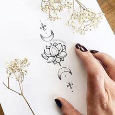 unalome tattoo meaning Mini Tattoos, Trendy Tattoos, Body Art Tattoos, Tattoo Drawings, Small Tattoos, Cool Tattoos, Tatoos, Flower Drawings, Gorgeous Tattoos