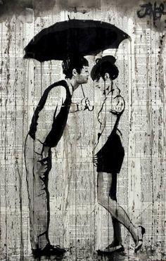 "Saatchi Art Artist Loui Jover; Drawing, ""lovely rain"" #art"