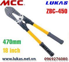 Kìm cắt cộng lực cách điện 7000V, ZBC-450 - Insulated Handles.  Kích thước: 470mm - 18 inch. Trọng lượng: 1.3kg. Lưỡi cắt dự phòng có thể mua thêm model: BCE0045. Khả năng cắt kim loại có độ cứng 80 HRB, lực cắt 490N/mm: 7mm hay 1/4