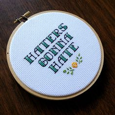 One of a Kind Bad Ass Cross Stitch by houseofmiranda on Etsy