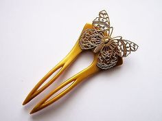 Studio 25 Designs**Vintage*USA* Finding,Butterfly,Hair Brooch,Pick,Chignon,Comb