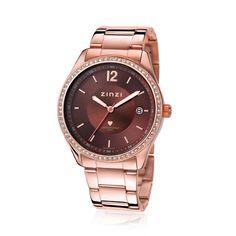 Zinzi Dames Horloge Rose Zirkonia Ziw306