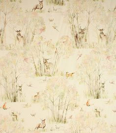 This beautiful fabric is fantastic quality made from 100% linen. With its unusual watercolour forest design, it makes a stunning curtain and blind fabric. Why not take advantage of our made to measure service and have them hand made for you in our Cotswold workroom? Matching ENCHANTED FOREST floor cushion and Sherwood Cushion.