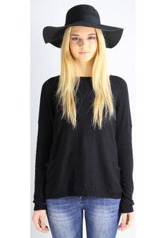 "CAPPELLO ""AUDREY"" TESA LARGA BLACK - Melissa Agnoletti http://www.melissaagnoletti.com/it/donna/1488-ciao.html #Melissaagnoletti #Fashion #Style"