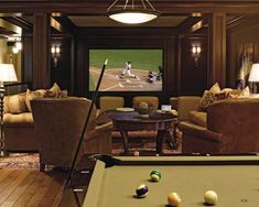 FORMAL MAN CAVES | ... hybrid media room includes formal home ... | Man Cave.. arrghh a