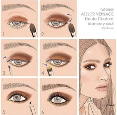 Tutorial Atelier Versace Haute Couture Bronce y Azule ByFrana on IG