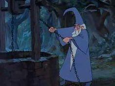La spada nella roccia - Merlino al pozzo