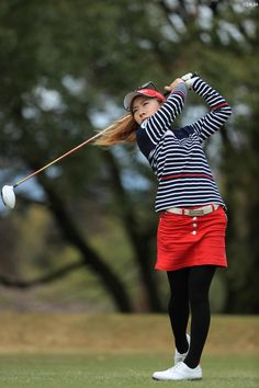 Geek Chic Outfits, Black Pantyhose, Play Golf, Golf Outfit, Athletic Women, Sport Girl, Sports Women, Hosiery, Asian Beauty