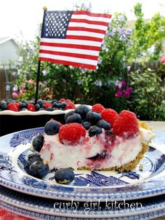 Summer Berry Cream Cheese Pie for 4th of July
