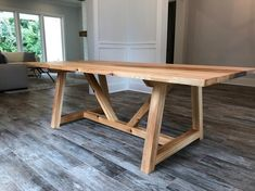This table, just like all of our tables is made to last centuries. We reclaim old cypress beams found in south Louisiana barns and shotgun houses to create every cypress table. Materials: Planed Reclaimed Cypress Dimensions: and Farmhouse Outdoor Dining Tables, Farmhouse Kitchen Tables, Diy Dining Table, Farmhouse Ideas, Farm Table Diy, Deck Table, Wood Tables, Side Tables, Outdoor Tables