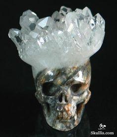 Druse Quartz Rock Crystal Crystal Skull http://www.skullis.com/Druse-Skulls-1.html