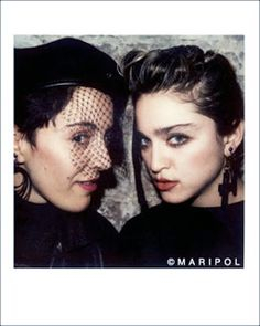 """Maripol, the french-born New York art-director and fashion stylist behind Madonna's iconic """"Like a Virgin"""" tour who never left home without her 70′s Polaroid camera …  #fashionconnect #fashionevent #fashionnightout #msfw #popart #polaroid #polaroidmovement #andywarhol #selfies #instagram"""