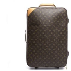 Louis Vuitton Pre-Owned - Louis Vuitton Monogram Canvas Pegase 55... (25615 MAD) ❤ liked on Polyvore featuring bags, luggage, brown and handbags
