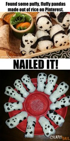 panda rice balls nailed it
