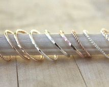 Stacking rings, gold ring, rose gold ring, SIMPLE YOU PICK own set, customize your style