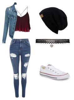 """Casual Outfit A fashion look from July 2017 by that-vintage-nerd featuring Topshop, Converse and Betsey Johnson"""", """"pinn… Teenage Outfits, Cute Outfits For School, Cute Casual Outfits, Teen Fashion Outfits, Swag Outfits, Cute Fashion, Outfits For Teens, Stylish Outfits, Womens Fashion"""