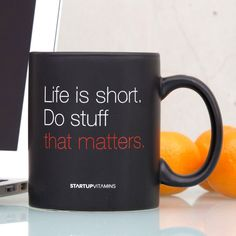Start off your day with your favorite blend of coffee, and with an extra dose of motivation. Matte Ceramic Mug holds 11 oz. Please allow 1-2 weeks for shipping.