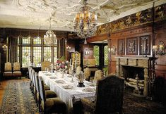 Dining Room at Stan Hywett Hall in Akron, Ohio built by Frank Seiberling.