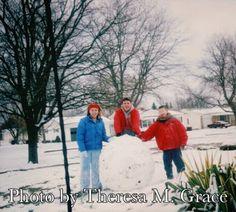 Building a snowman  Thanksgiving Day at Grandma's