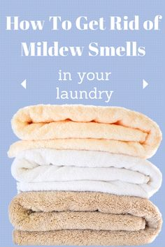The easiest trick ever! No need to throw mildew towels in the rag bag anymore with this easy laundry tip to get the mildew smell out of towels and clothes! Household Cleaning Tips, House Cleaning Tips, Cleaning Hacks, Cleaning Supplies, Cleaning Recipes, Cleaning Solutions, Spring Cleaning, Tips And Tricks, Cleaners Homemade