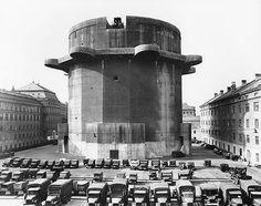 Friedrich Tamms, Flaktürme, Wien 6, 1942–1944. Gefechtsturm in der Stiftskaserne, 1951. (Architekturzentrum Wien)