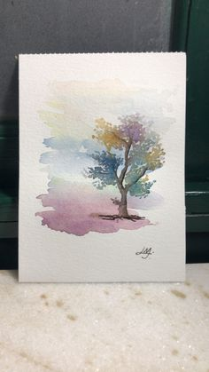 55 Very Easy Watercolor Painting Ideas For Beginners - Page 3 of 4 - FeminaTalk Watercolor Trees, Easy Watercolor, Watercolor Cards, Watercolor Landscape, Abstract Watercolor, Watercolor Illustration, Watercolor Artists, Watercolor Beginner, Watercolor Portraits