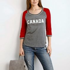 Women's Canada Baseball T   Women's Tops T Shirts and Tanks   Roots  #RootsBacktoSchool