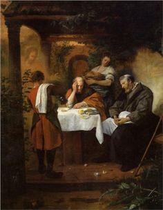 Jan Havickszoon Steen (Leiden 1626 – Leiden 1679) Supper at Emmaus