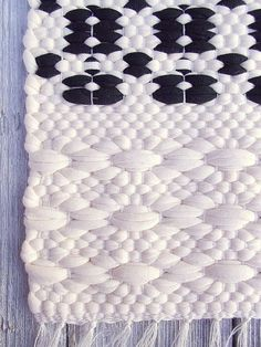 Black and white cotton rug handmade soft and thick by leedas love this weavers work