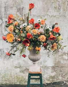 Late Winter Florals by Swallows & Damsons + Best of the Web (Design*Sponge) - Floral Decor Orange Flowers, Diy Flowers, Beautiful Flowers, Wedding Flowers, Purple Wedding, Vase Of Flowers, Spring Flowers, Orchid Flowers, Bouquet Wedding